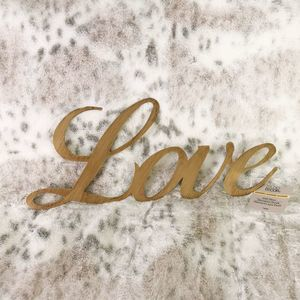"Gold Cursive ""Love"" Wall Decor"